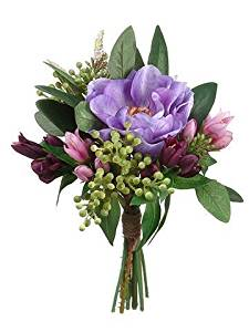 Cheap silk anemone flowers find silk anemone flowers deals on line get quotations anemone mixed silk floral bouquet in purple and green 9 t mightylinksfo