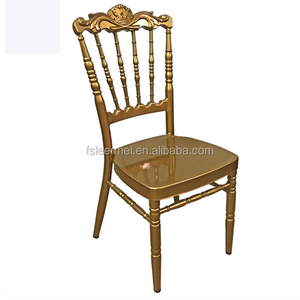 Metal Aluminum Hotel golden Wedding Chiavari Chair