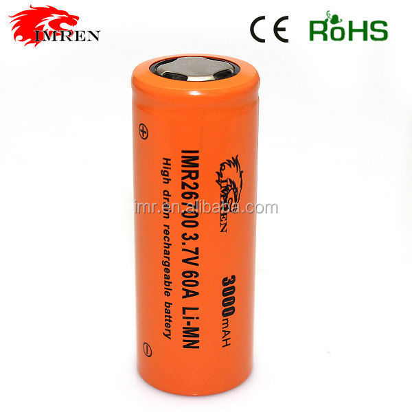 IMR 26700A 3000mAh power cell 26700 li-ion battery 3.7v 3000mah