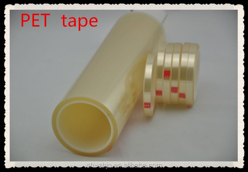 High Temperature No Printing Design Printing clear super sticky PET tape