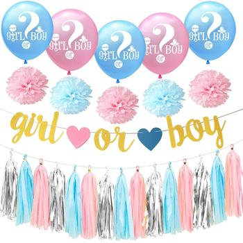 Boy Or Girl Baby Shower Decorations Baby Blue Pink Gender Reveal