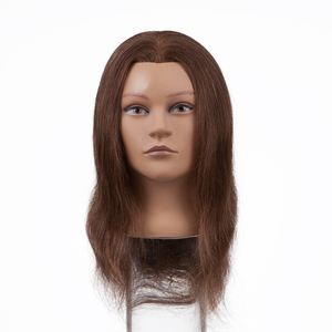 Beauty Salon Equipment Female Mannequin Head 100% Human Hair Barber Practice Training Mannequin Head
