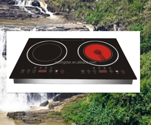 Zinc housing built-in double induction cooker vs infrared cooker/dual burner induction infrared cooker/2 head electric cooktop