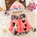 New 2015 Autumn Winter Children Minnie Hoodies Jacket Coat Baby Girls Clothes Kids Toddler Outerwear Warm