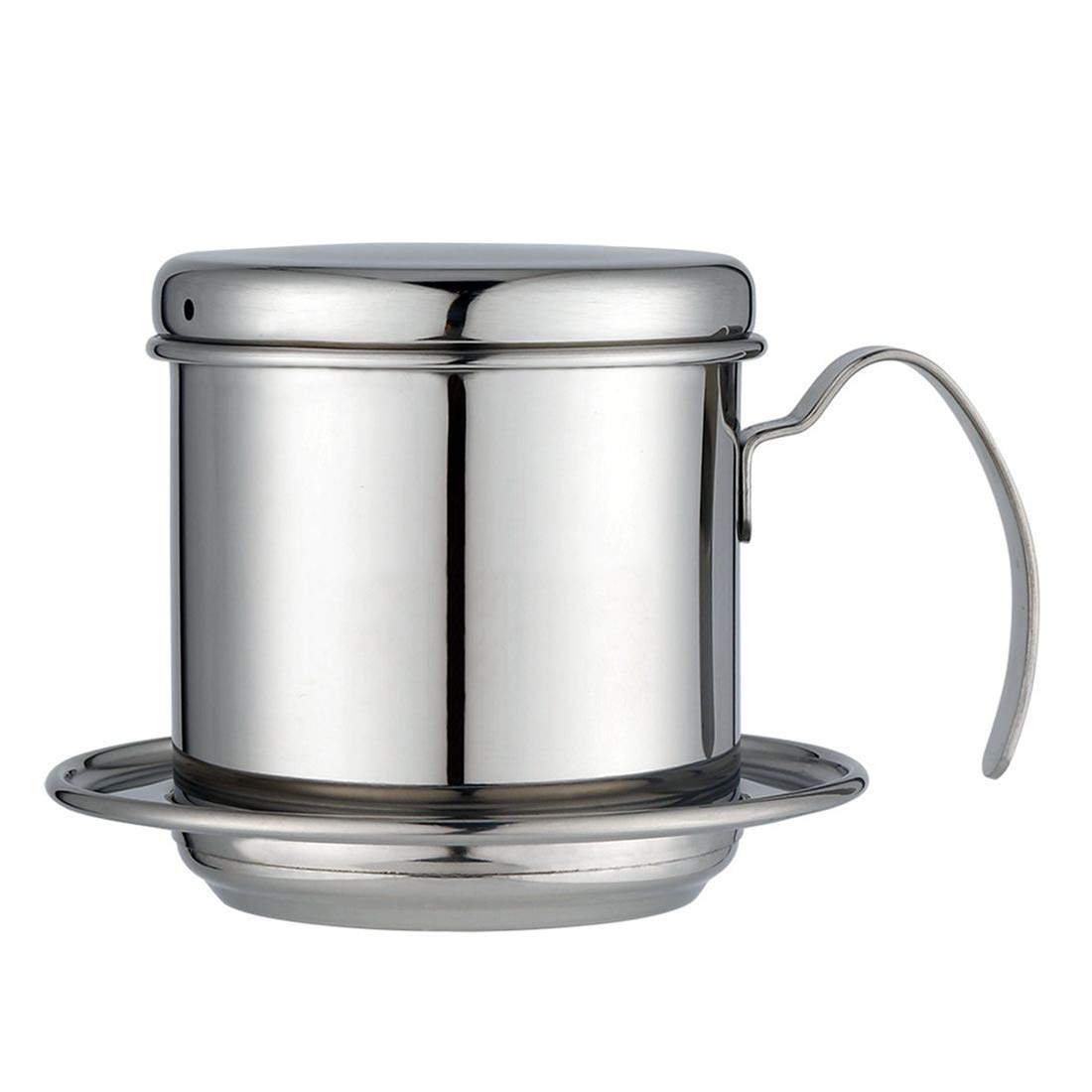edasw Vietnamese Coffee Pot 304 Stainless Steel Hand-washing Pot Vietnamese Drip Pot Coffee Drip Pot Drip-type Coffee Pot (Color : Stainless steel primary color)