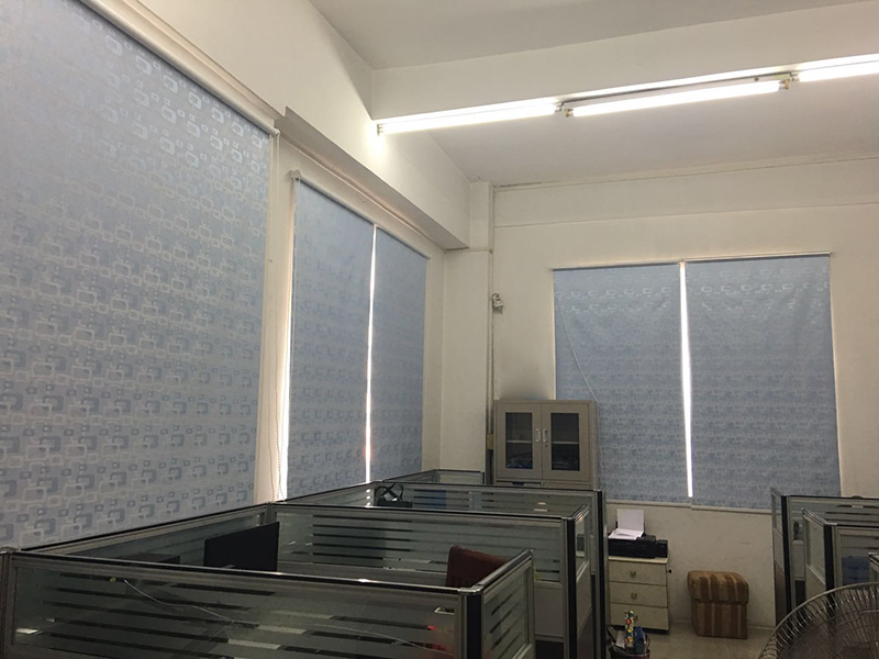 230cm blinds fabric customized bright silk semi-blackout roller blinds