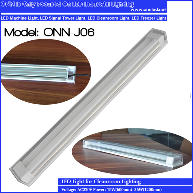 new integrated linear led light, dust free, maintenance free 18W 36W ONN J06