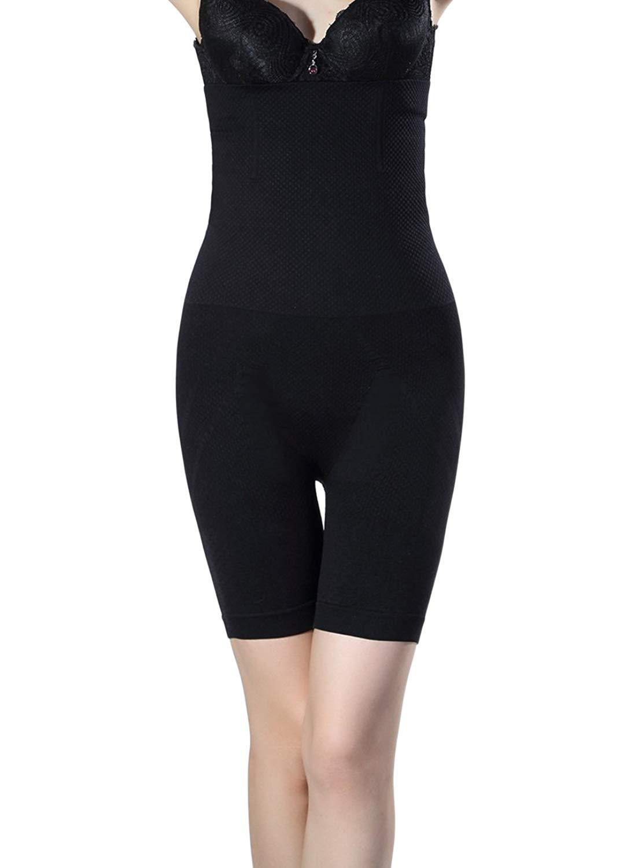 e77032a7538d4e Get Quotations · Shymay Women's Long Leg Slimmer Higher Power High-waist  Mid-thigh Shapewear