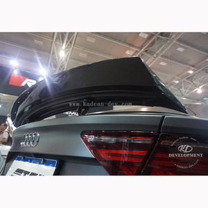 TOP STYLE TRUNK WING SPOILER FOR S7 A7 S-LINE RS7 4G PORTION CARBON