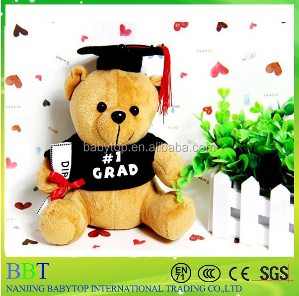 8 inchGraduation Plush Teddy Bear with Cap and Diploma in Hand