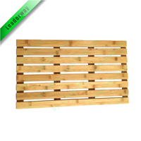 Best price Superior Quality Natural Wood Slatted Duckboard Bamboo Bath Shower Mat