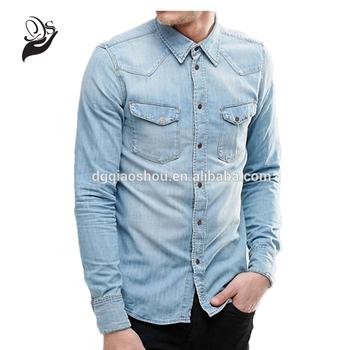 b5c09bb4fe9 2017 New Design Long Sleeve Mens Denim Jeans Shirt Classic Fashion Casual Jeans  Shirt For Men