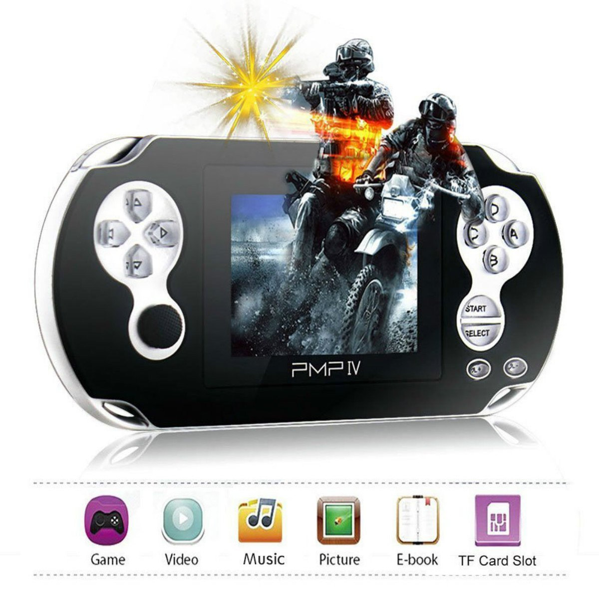 """Handheld Game Console,Rongyuxuan 3"""" Retro Game Console with 566 Games Portable Video Game Player support MP3 Ebook (Black)"""