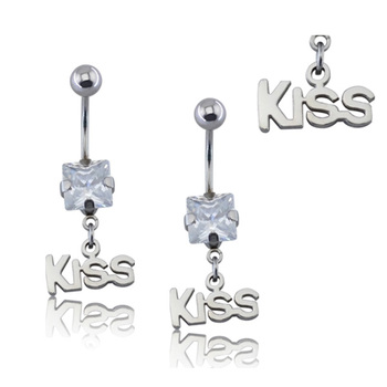 Stainless Steel Belly Ring Pregnant Kiss Shaped Belly Dance Dangling Ring Piercing Buy Belly Piercing Ring Piercing Dangling Piercing Product On