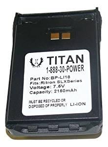 Titaniumium Replacement Ritron BP-LI-18 Battery Pack, Li-Ion, 7.5V-18 Month Warranty