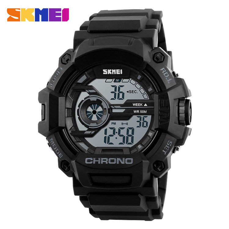 alibaba fashion military outdoor sports chrono wristwatch silicone digital led mens wrist watches