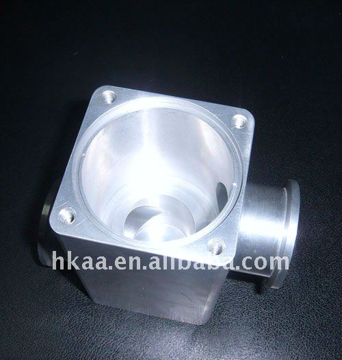 CNC milling parts black anodized aluminum LED light housing