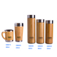Bamboo thermal bottles for water Stainless Steel Thermos flask for tea coffee Vacuum Flasks insulated thermos travel mug