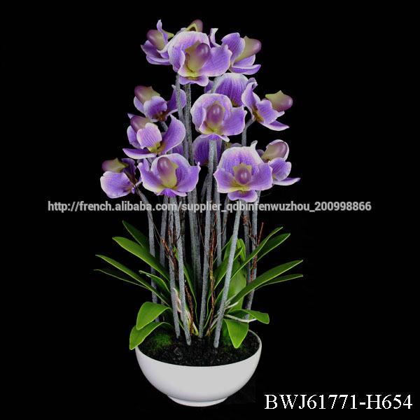 Fleur Artificielle Geante Avec Pot Fleurs Guirlande De Decoration
