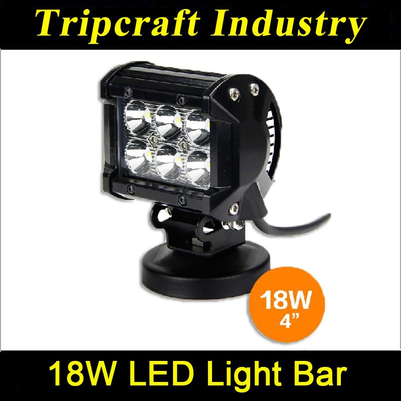 18w Led Light Bar For Cars Led Truck Lights Moto Led Work Light ...