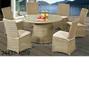 34431-1059 1+6 Outdoor Round Table Dining Set; Round Table Garden Dining Set; Round Table Leisure Dining Set