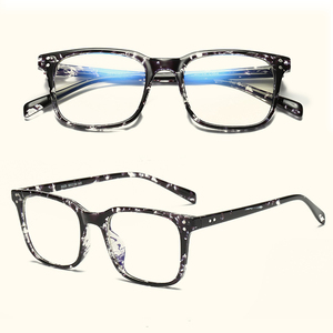 nice style square TR90 blue light block men women custom goggles coated clear lens