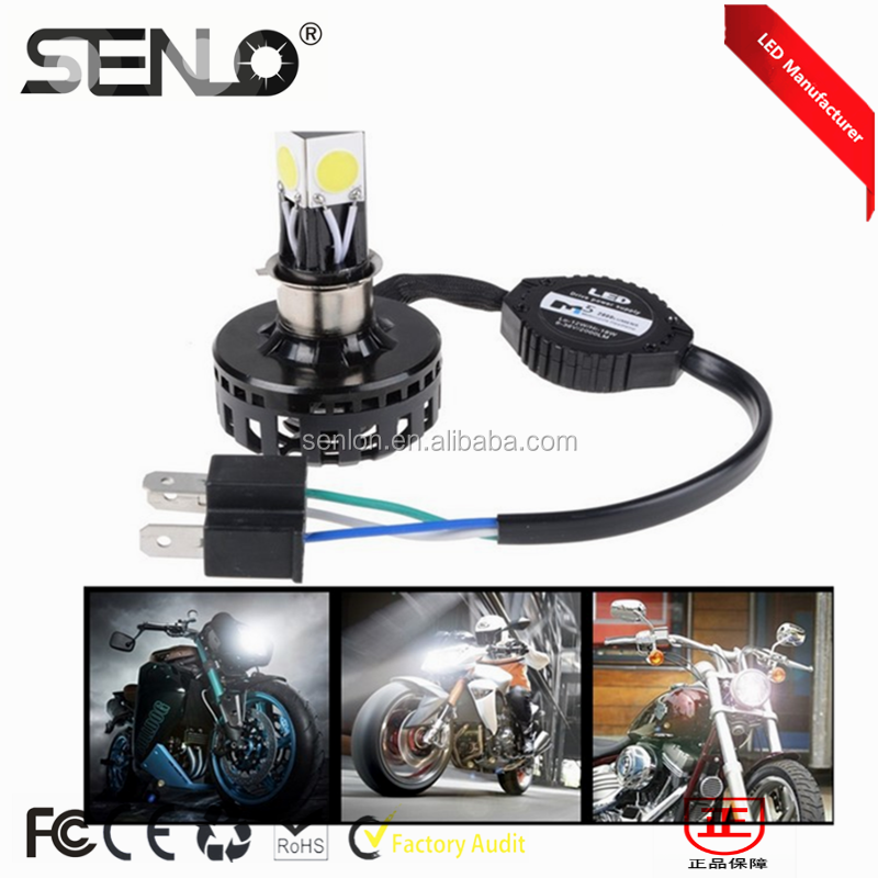 DC12V 6-36V 18W LED Motorcycle Headlight h4 h7 h6 Fit Most Motorbike LED Hi Lo Headlight Conversion Kit all kind supplier