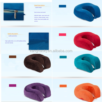 high quality custom memory foam travel pillow
