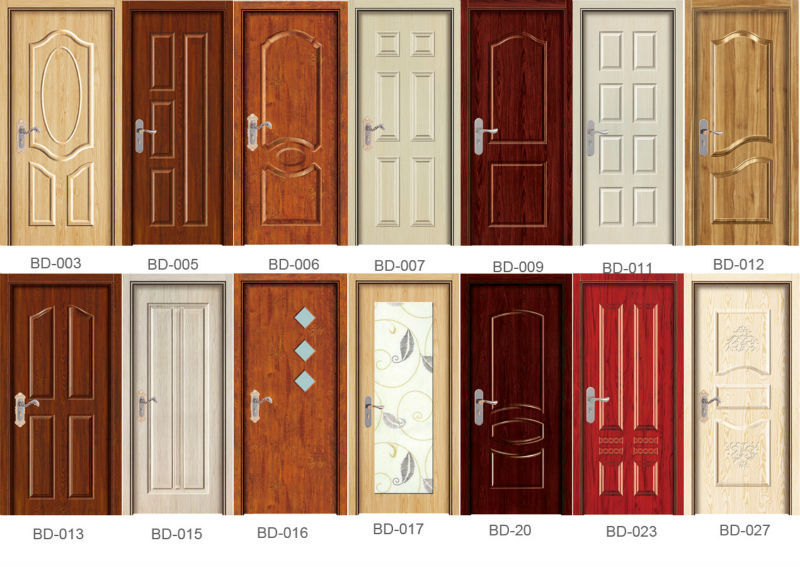 Panel Doors Design most popular simple design wood panel door design made in yongkang Baodu Doors Melamine Wooden Doors Covered By Wooden Veneer Skin Melamine Polish For Wood