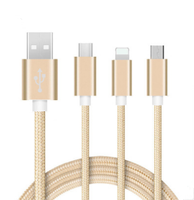 High Quality cable usb 3 in 1 cable Usb Data Cable For Iphone