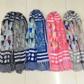 Colors tribal patterned fashion women scarf wholesale