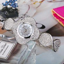 MISSFOX, Новое поступление, женские часы с розой, уникальный дизайн, кварцевые наручные часы с цветами, женские золотые свадебные наручные часы,...(China)