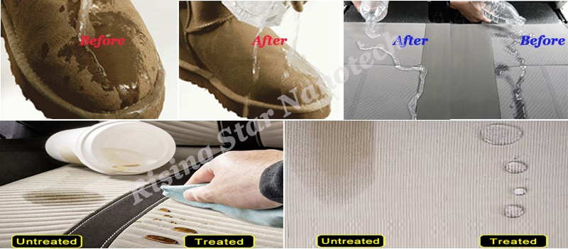 super hydrophobic coating for textile and fabric water repellent nano coating