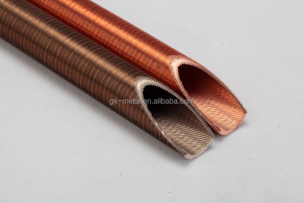 LWC Inner Grooved Copper Tube for ACR, heating colling system pipes, threaded copper tube for chiller