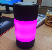 New factory direct sale discoloration colorful intelligent bluetooth speaker stereo with alarm clock LED lamp emotion