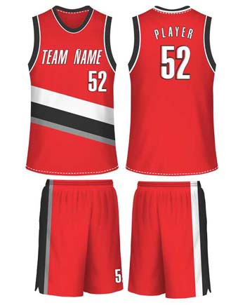 China Suppliers Team Wear Best Basketball Jersey Uniform Design Color Red