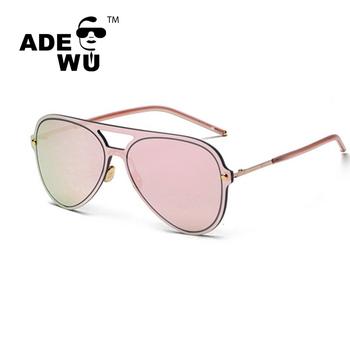 55baf7310dd ADE WU 2017 italy design ce fashionable rimless sunglasses Dazzle colour  driver glasses Unisex
