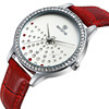 SKONE 9273 crystal dial color strap changing watch