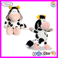 A566 Soft Animal Cow R Us Plush Cute Stuffed Black Cow Toy