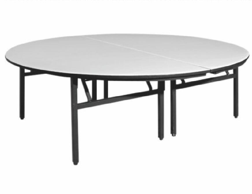 원탁 스틸 접이식 테이블 라운드 웨딩 연회 테이블과 의자