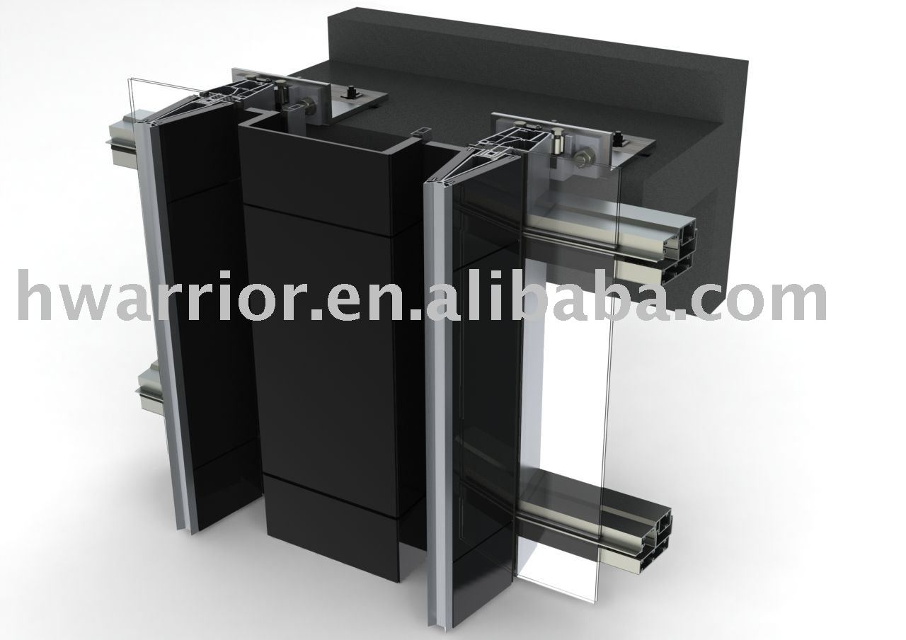unitized mur rideau de verre mur rideaux id de produit. Black Bedroom Furniture Sets. Home Design Ideas