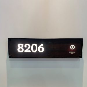 3D LED lighting hotel room door led number sign