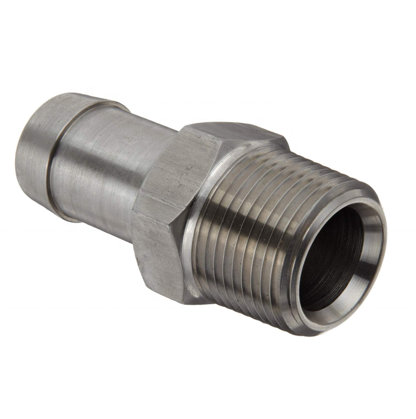 "Stainless Steel 316 Hose Fitting Insert 1"" NPT Male x 1"" Hose ID Barbed"