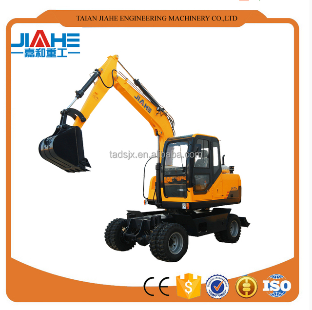2017 newest 7 ton full hydraulic control 4WD wheel excavator for sale