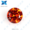 Hot sale Round Brilliant cut Light Orange Red Zircon Stone