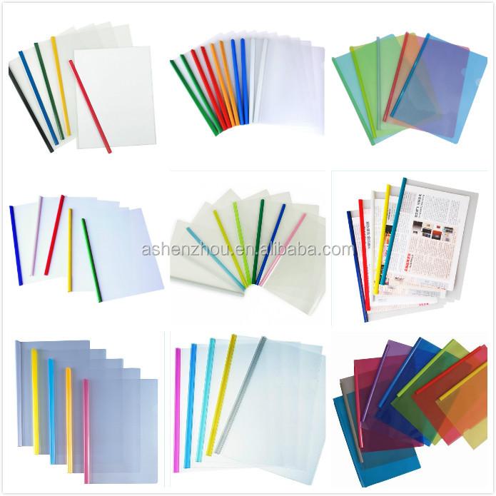 OEM factory cheap custom PVC document holder report cover sliding binder file