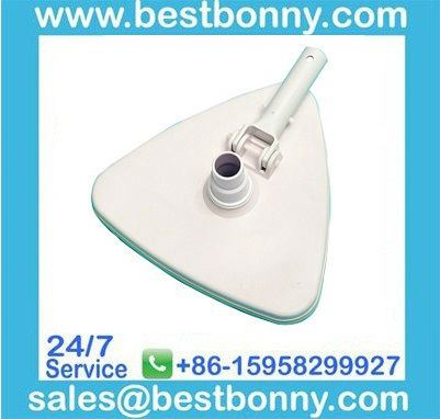 Swimming Pool Triangular Vacuum Head Brush with Swivel and Rubber Bumper T238