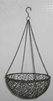Superior Wholesale Garden Patio Park Outdoor Decor Wrought Iron Handicraft Antique  Metal Hanging Wire Plant Baskets