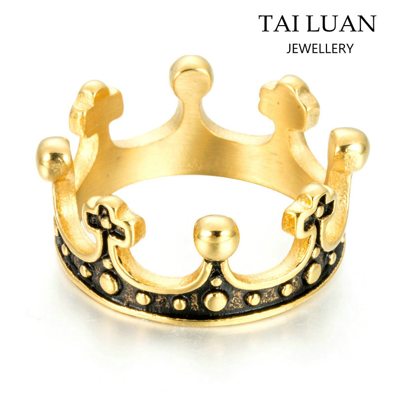 Fancy New Design Ladies Finger Gold Ring Design Fashion Gold Crown ...