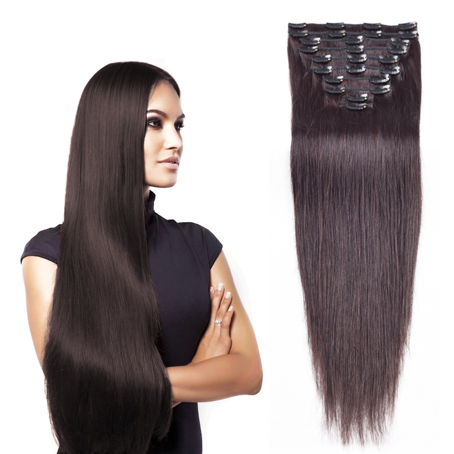 Buy 18inch45cm 10pcs 70g Remy Straight Clip In Human Hair